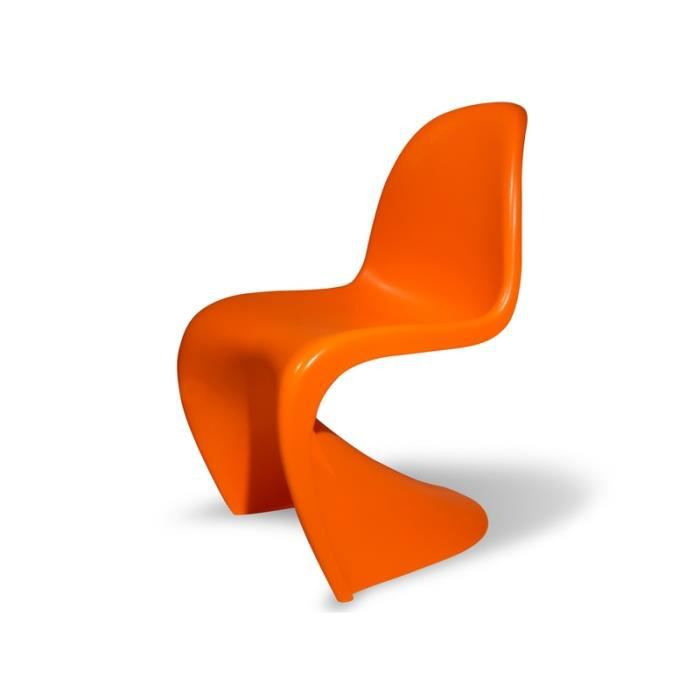 chaise enfant panton orange achat vente chaise cdiscount. Black Bedroom Furniture Sets. Home Design Ideas