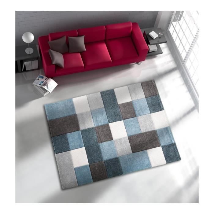 allotapis tapis courtes m ches pour salon bleu eden 200x290cm bleu achat vente tapis. Black Bedroom Furniture Sets. Home Design Ideas
