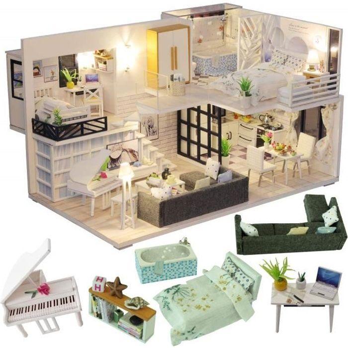 Mini-poupées et accessoires Miniature Maison De Poupée Kit ...