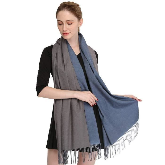 Longwu 100/% pure /écharpe en laine de cachemire Pashmina ch/âle Wrap pour les femmes longues grandes /écharpes chaudes et