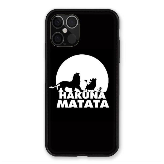 Coque Pour Iphone 12 / 12 Pro Roi Lion - Hakuna Ma