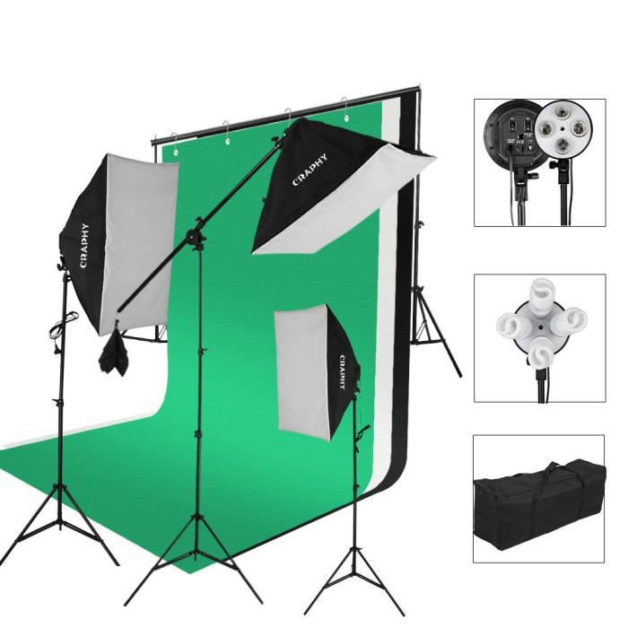 De 2000w Led Eclairage Kit Craphytoile Photo Studio FondSupport Jc1TFKl