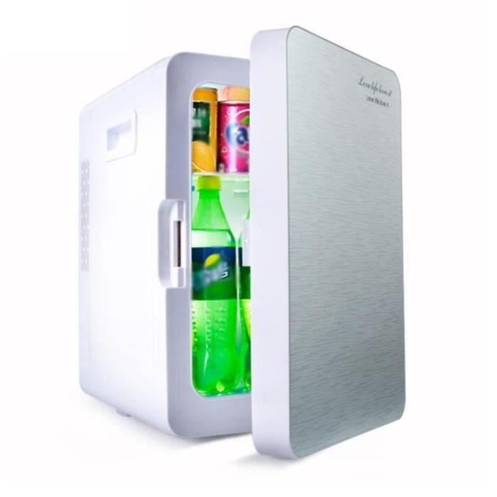 RÉFRIGÉRATEUR CLASSIQUE 20L Mini Réfrigérateur Chaud&Froid 12V Electrique