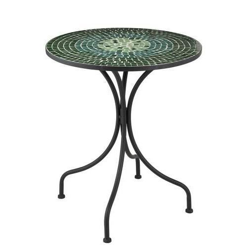 Table ronde de jardin en mosaique