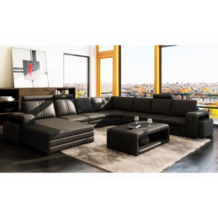 canap d 39 angle en cuir italien 8 places diamant achat vente canap sofa divan canap d. Black Bedroom Furniture Sets. Home Design Ideas