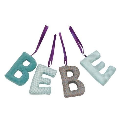 lettres d coratives b b jpb achat vente plaque de porte tissu cdiscount. Black Bedroom Furniture Sets. Home Design Ideas