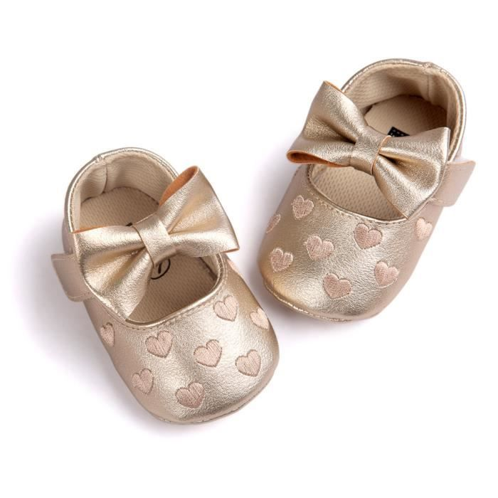 Bodhi@ Nouveau-né doux semelle PU bébé fille chaussures anti-dérapant  Prewalker 6-12 mois Doré Doré - Achat / Vente babies - Cdiscount