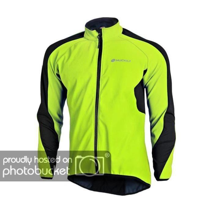 Hiver Cyclisme Veste pleine manches coupe-vent Cycle Thermique Veste Jersey