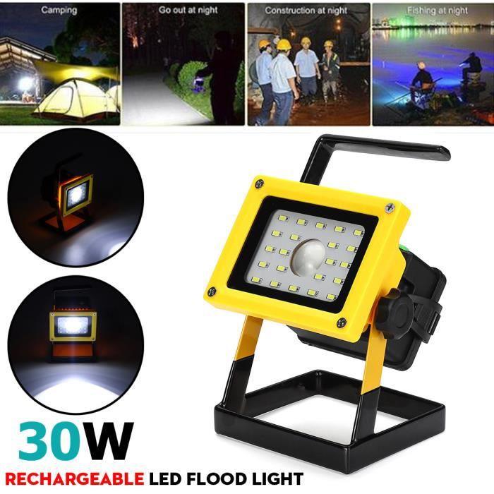 T-Sun 30 W DEL Travail Lumière Rechargeable Voiture Extérieur Camping Torche USB Flood Feux