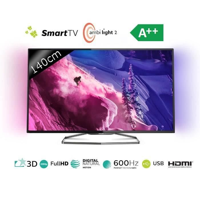 philips 55pfs6909 smart tv led ambilight 3d 140cm t l viseur led avis et prix pas cher. Black Bedroom Furniture Sets. Home Design Ideas