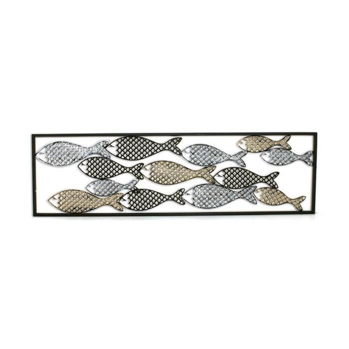 decoration murale en metal poissons achat vente decoration murale en metal poissons pas cher. Black Bedroom Furniture Sets. Home Design Ideas
