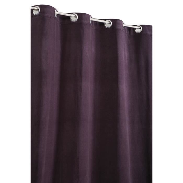rideau velours de coton violet mauve achat vente rideau cdiscount. Black Bedroom Furniture Sets. Home Design Ideas
