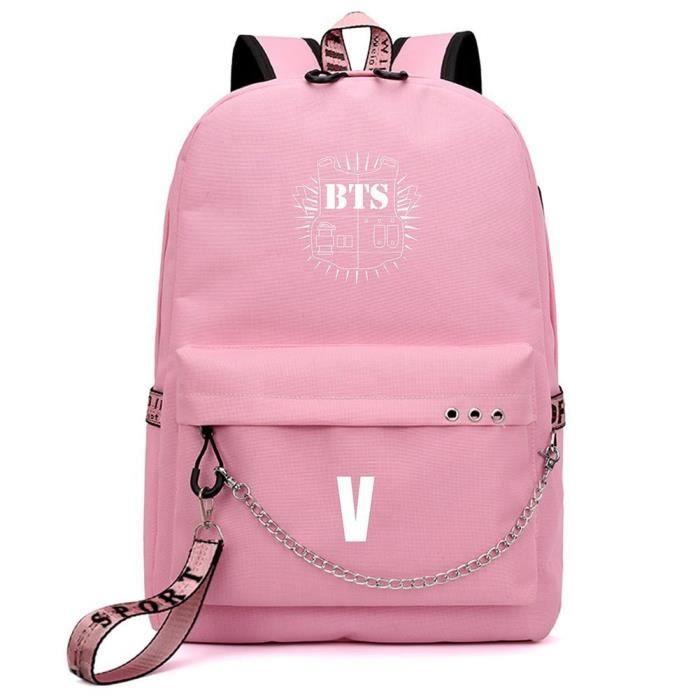 Skisneostype Sac /à dos Kpop BTS Bangtan Boys Unisexe D/écontract/é Cartable de coll/ège Sac dordinateur portable Sac de voyage Joli cadeau pour les fans de BTS Black3-BTS