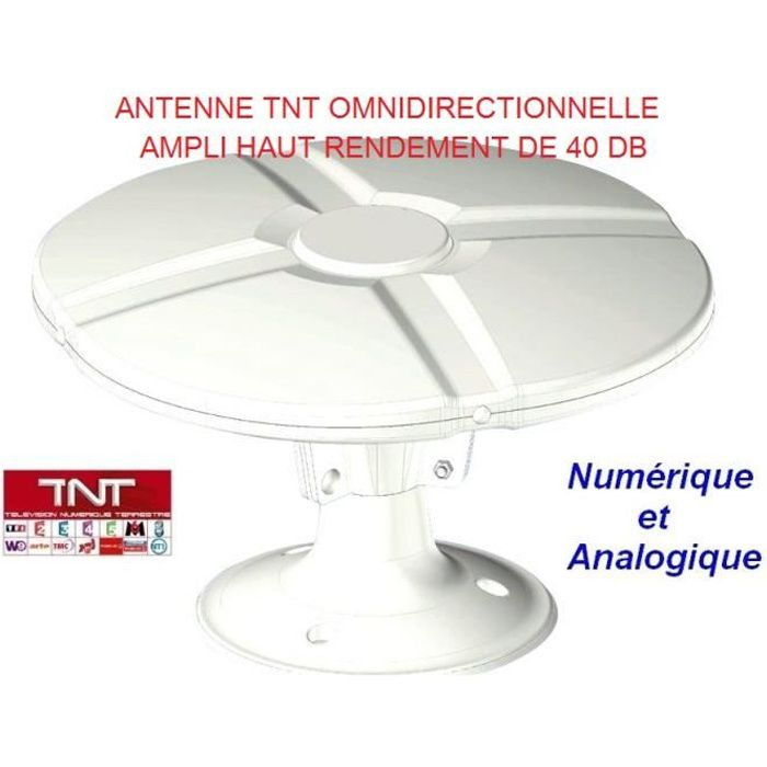 antenne tnt camping car caravane omnidirectionne achat vente antenne rateau antenne tnt. Black Bedroom Furniture Sets. Home Design Ideas