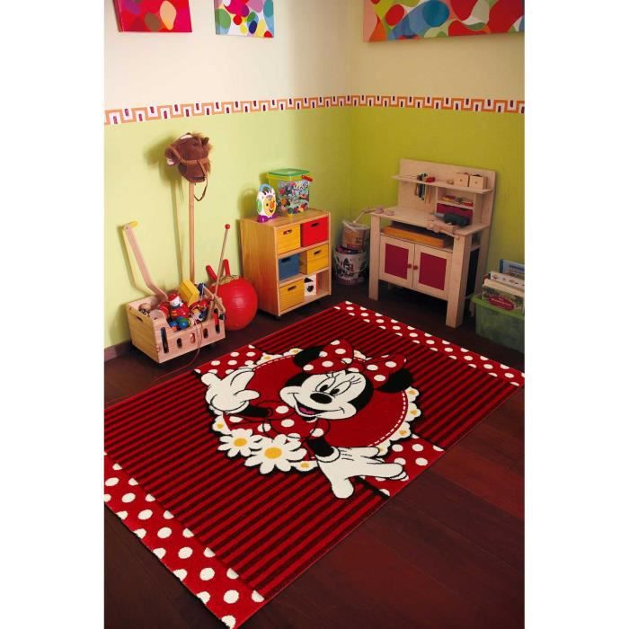 tapis chambre fille disney premium minnie 004 rouge 135x190 par unamourdetapis tapis pour. Black Bedroom Furniture Sets. Home Design Ideas