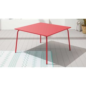 Awesome table de jardin metal rouge images amazing house - Table de jardin metal rectangulaire ...