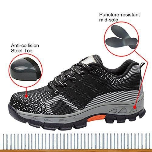 Women's Optimal Safety Shoes Work Shoes Comp Steel Toe Shoes SWJQT Taille-39