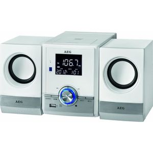 AEG MC 4461BT Chaîne Bluetooth / MP3 / USB - 11 W - Blanc