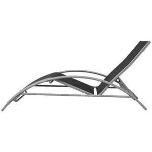 SALON DE JARDIN  KKmaison Chaises longues de jardin en aluminium