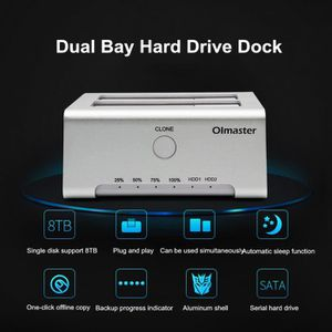 DISQUE DUR EXTERNE USB3.0 vers SATA double baie de disque Docking Dri