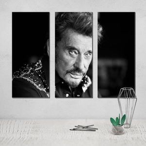 TOILE Canvas Poster Johnny Hallyday Painting Photo movie