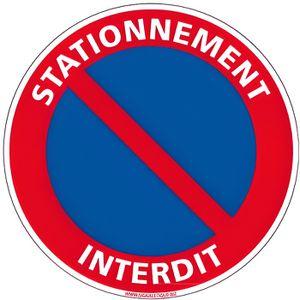 180 MM DEFENSE DE STATIONNER SIGNALISATION DISQUE PANNEAU PVC RIGIDE D