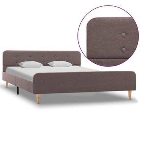 LIT COMPLET Cadre De Lit: Double 140*200 cm - Design Classique