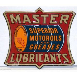 OBJET DÉCORATION MURALE plaque master motor oil lubricants tole deco garag