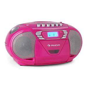 RADIO CD CASSETTE auna KrissKross - Poste radio K7 mobile avec lecte