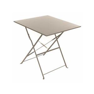 TABLE DE JARDIN  Table de jardin carrée Camargue 70 x 70 cm Taupe m