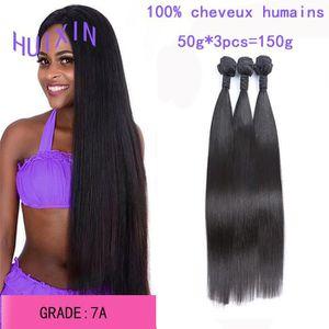 PERRUQUE - POSTICHE 3 tissage bresilien extensions de cheveux raides 7