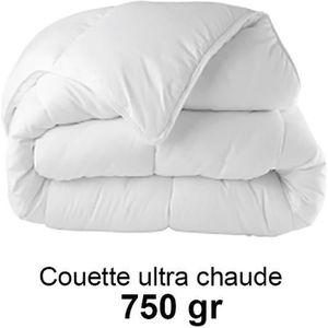 COUETTE Couette 220x240cm ultra chaude 750gr/m², toucher p