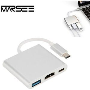 CÂBLE RÉSEAU  Adaptateur USB 3.1 Type C Male Vers HDMI USB 3.0 M
