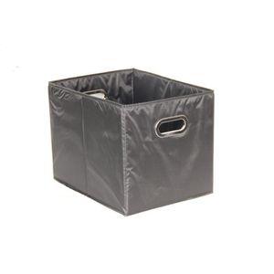 CASIER POUR MEUBLE Cube rangement large noir