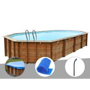 PISCINE Kit piscine bois Sunbay Sevilla 8,72 x 4,72 x 1,46