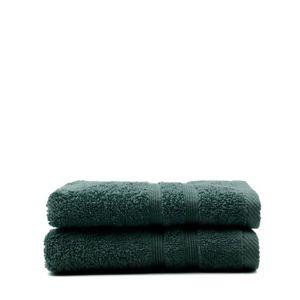 SERVIETTES DE BAIN TODAY Lot de 2 Serviettes de toilette Émeraude - 1
