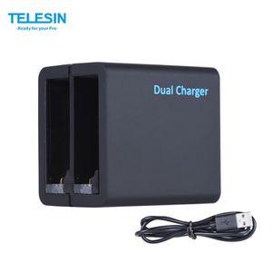 BATTERIE APPAREIL PHOTO TELESIN Double Slots Chargeur de batterie  pour Go