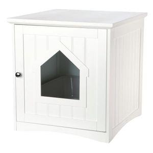 BAC À LITIÈRE TRIXIE Cabine de toilette - 49x51x51cm - Blanc - P