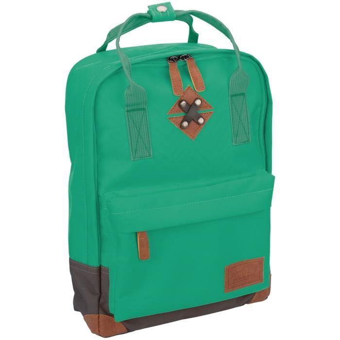ABBEY Petit sac à dos en polyester 300T - Doublure 100% polyester - Dimensions 24 x 10 x 33 cm - Vert