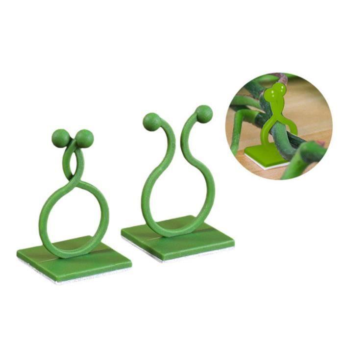 Clips de Support Réglable pour Plantes Caches de Tuteurs de Jardin Structure de Support Attache pou Vigne, Légumes, Tomates, Vert