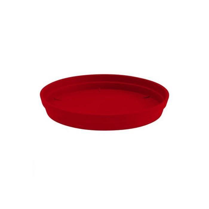 Soucoupe Toscane Pop rouge O 40 cm