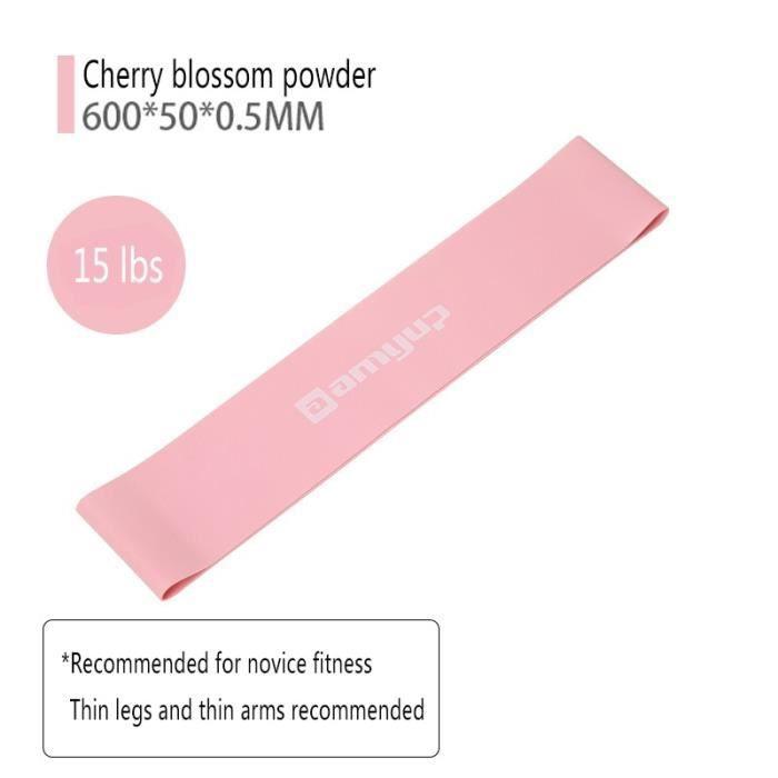 Accessoires Fitness - Musculation,Accessoires de Yoga 10 Lbs 50 lb ceinture élastique anneau élastique - Type Cherry blossom pink