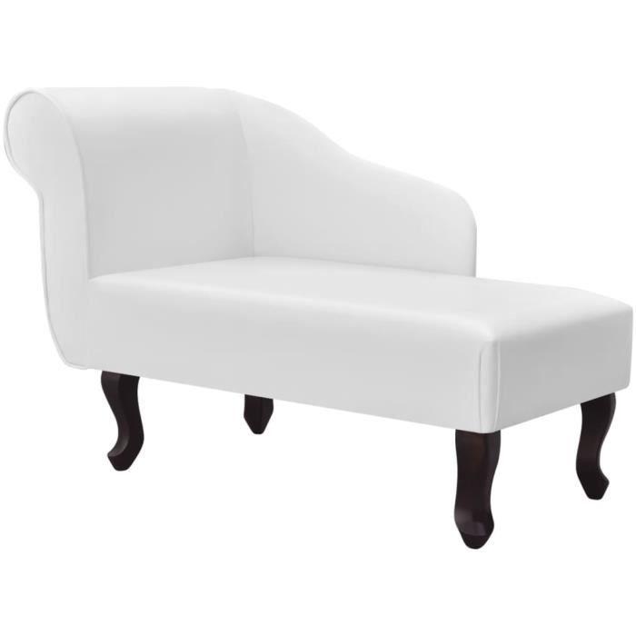 Neuf}9882Ergonomique Chaise longue Méridienne Scandinave & Confort - Chaise de Relaxation Fauteuil de massage Relax Massant Blanc Si