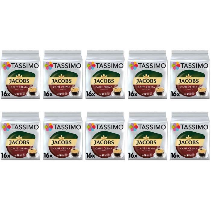 Dosettes de café Jacobs Caffe Crema Classico - Paquet de 10 (160 boissons)