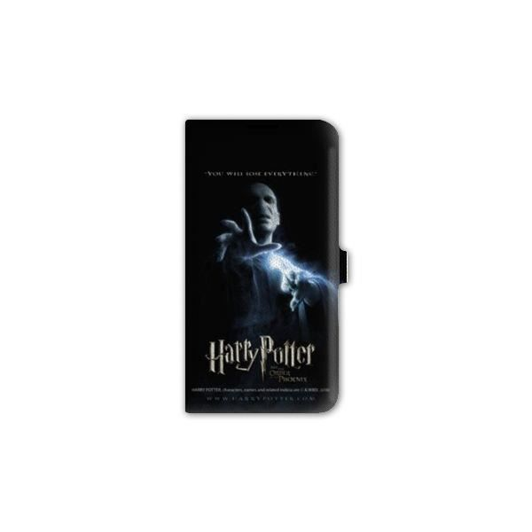 Housse cuir portefeuille iPhone 5 - 5S - SE WB License harry potter C - - phoenix voldemor N