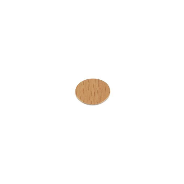 Lot de 150 pastilles adhésives D. 20 mm finition hêtre - 4026630 - Emuca