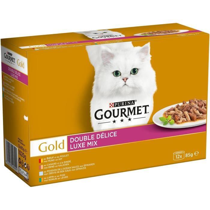 GOURMET Gold Double Délice - Boîtes - Pour chat adulte - 12 x 85 g