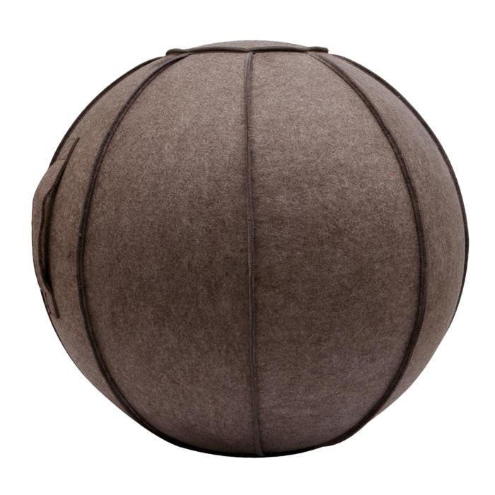 65cm Senti Assis Ball Chair Protection, durable Auto-Debout Ballon D'exercice Équilibre Pilates Yoga Boules Couverture avec marron