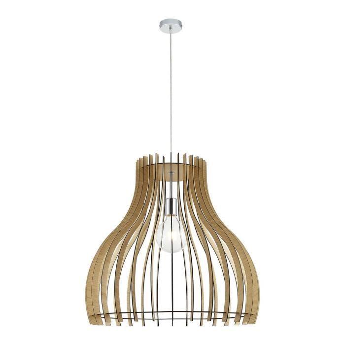 Lampadaire LED VORTEX en métal effet bois Laurie Lumière