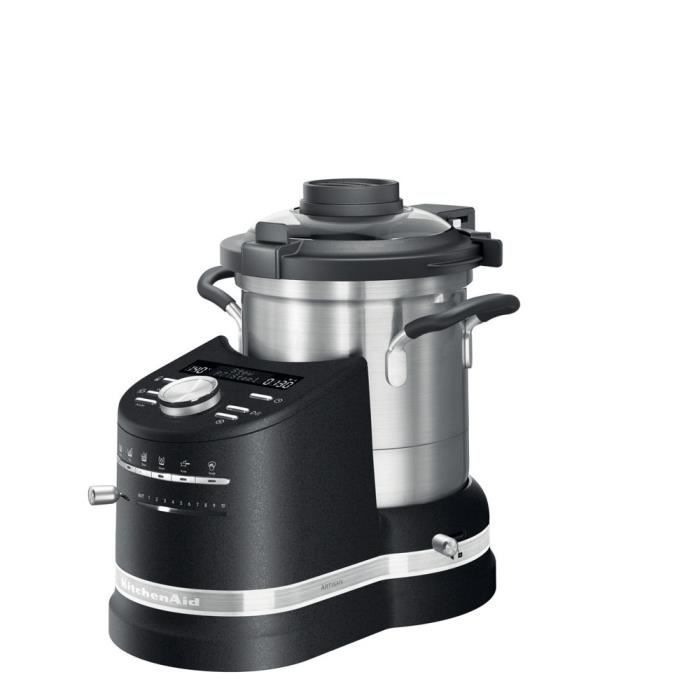 robot cuiseur tout en un de 4,5L 1500W truffe noire argent